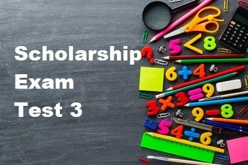 Scholarship Test 3