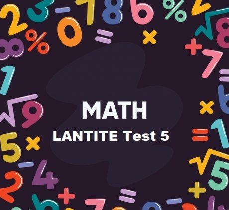LANTITE Maths Test 5 - Free